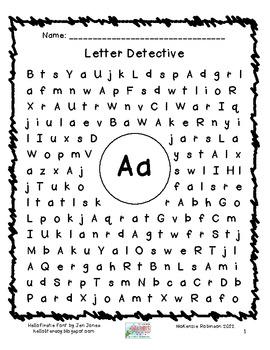 find a letter letter detective by mckenzie robinson tpt. Black Bedroom Furniture Sets. Home Design Ideas