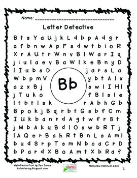 Find a Letter: Letter Detective SAMPLE