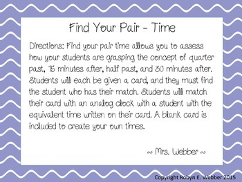 Find a Pair - Time