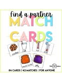 Find a Partner Match Cards | Cooperative Learning Games |