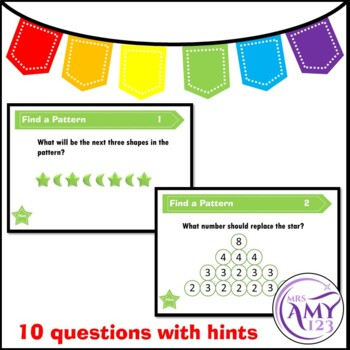 Find a Pattern Problem Solving PowerPoint, Task Cards and Worksheet