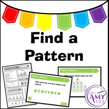 Find a Pattern Problem Solving PowerPoint, Task Cards and