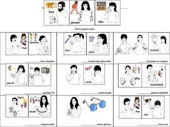 Find a Person Who...in Sign Language