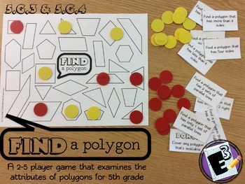 Find a Polygon - Classifying Polygons grade 5