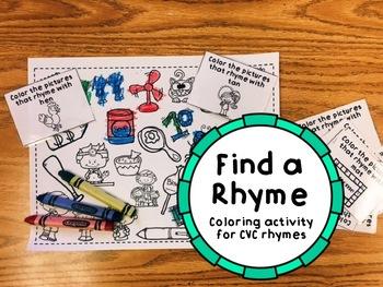 Find a Rhyme CVC Activity