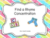 Find a Rhyme Concentration Game