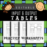 Input Output Tables ⭐⭐⭐⭐ What's My Rule? EDITABLE Pattern Rules / 40-Pages!