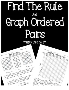 Find a Rule and Graph Ordered Pairs Riddle(TEKS 5.9B, 5.4C)