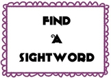 Find a Sightword Set 4