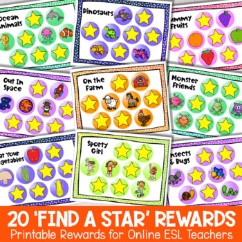 VIPKID Printable Rewards- VIPKID Find a Star Reward (DadaABC, GogoKid, SayABC)