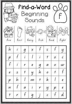 Find-a-Word - Beginning Sounds