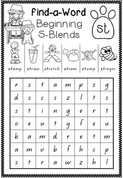 Find-a-Word - Blends and Digraphs