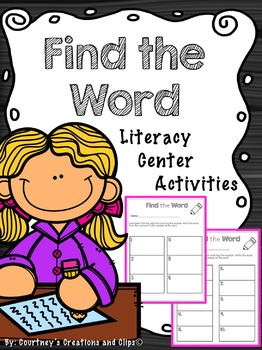 Find a Word {Center Activity}