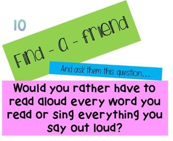 Find-a-friend Ice Breaker