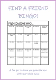 Find a friend bingo