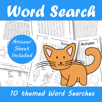 Find a word - 10 themed word searches