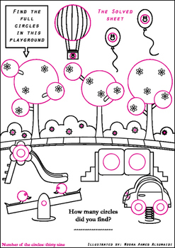 Find all the circles - Free printable worksheet for early grades
