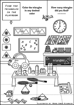 Find all the triangles - a fun game for 1st graders to 4th