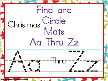 """Find and Circle Aa Thru Zz """"Christmas"""""""