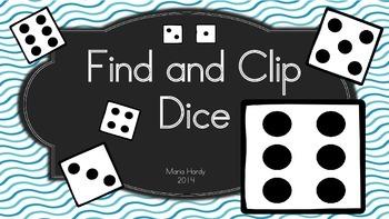 Kindergarten Find and Clip Dice