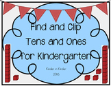 Kindergarten Find and Clip Place Value K.NBT.1