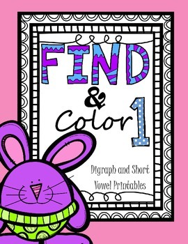 Find and Color - Digraphs and Short Vowels CVC