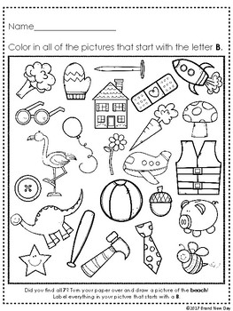 Find and Color FREEBIE Consonant Alphabet Letter B