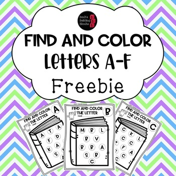 Find and Color FREEBIE (letters A-F included)