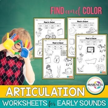 Find &Color; Initial & Final Sounds; Early developing sounds