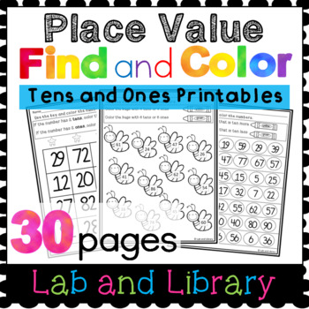Find and Color No Prep Place Value Printables