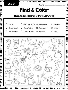 Read, Find and Color: Seasons