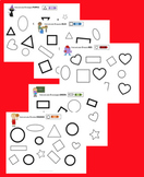 Find and Color (Shapes - level 1)