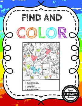 Find and Color Visual Discrimination Skills