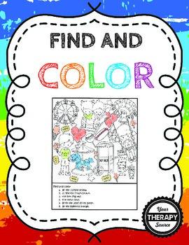Find and Color Visual Discrimination Skills