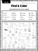 Find and Color: phonics practice (long vowels, digraphs an