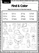 Read, Find and Color: phonics practice (short vowels)