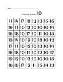 Find and Color the Teen Numbers