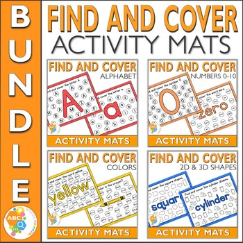 Find and Cover Activity Mats Bundle