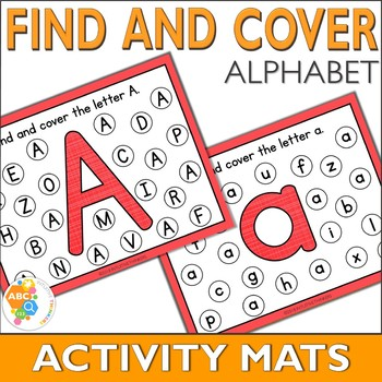 Find and Cover Alphabet Activity Mats