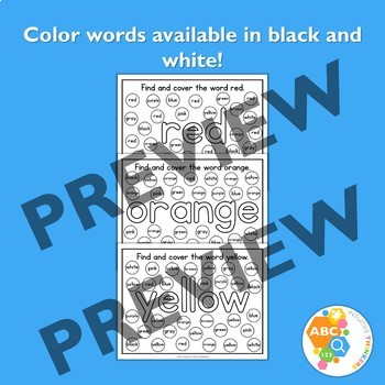 Find and Cover Color Activity Mats