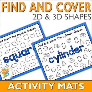 Find and Cover Shape Activity Mats