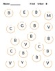 Find and Dot Alphabet Letters A - L