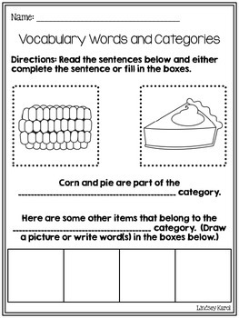Find and Dot Categories and Vocabulary: Summer Edition