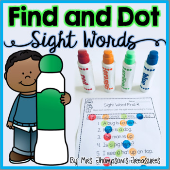 Find and Color - Sight Words Activity