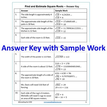 Square root word problems examples