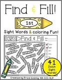 Find and Fill - Dolch Sight Words {First Grade}