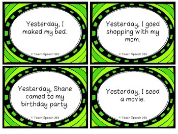 Find and Fix Irregular Past Tense Verb Task Cards