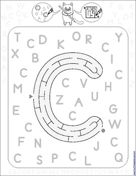 Find and Follow Alphabet Number Hunts and Mazes