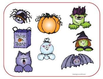 Find and Spell Halloween Picture Mat