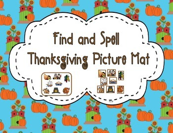Find and Spell Thanksgiving Picture mat